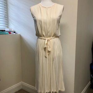 Ralph Lauren (M), Ivory/Cream Pleated Sheath Dress